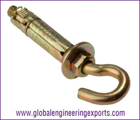 Hook Bolt anchor fasteners manufacturers exporters suppliers in india