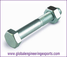 M10 Hex Bolt Zinc Plated with Hex Nut manufacturers exporters suppliers in india punjab ludhiana