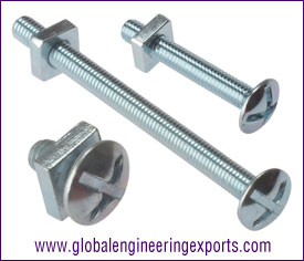M6 12MM Roofing Bolts Zinc Plated manufacturers exporters suppliers in india punjab ludhiana