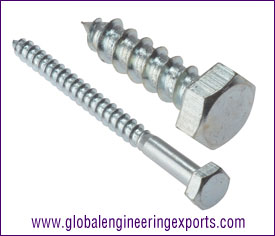 M8 M6 Coach Screw Hexagon head manufacturers exporters suppliers in india punjab ludhiana