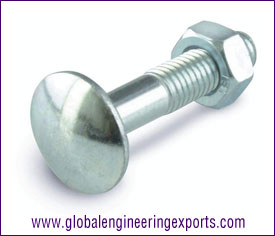 Cup Square Bolt M6 Zinc Plated manufacturers exporters suppliers in india punjab ludhiana