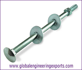 M8 Cup Square Bolt Zinc Plated manufacturers exporters suppliers in india punjab ludhiana