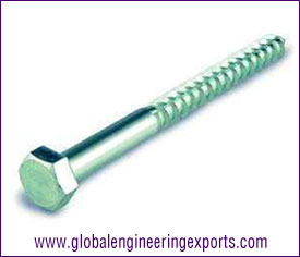 10MM Hex Wood Screw Zinc Plated manufacturers exporters suppliers in india punjab ludhiana