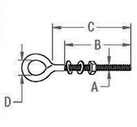 eye bolt drawing - eye bolts manufacturers exporters suppliers in india punjab ludhiana