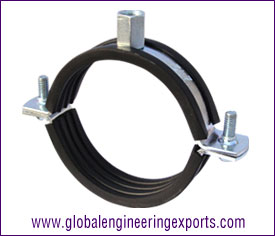 Pipe Clamp with Rubber Lining manufacturers exporters suppliers in india punjab ludhiana