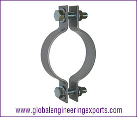 Pipe Clamp with Hex Nut, Hex Bolt & Washers manufacturers exporters suppliers in india punjab ludhiana