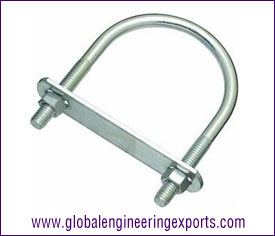 Zinc Plated U Bolt with Plate, washers, Hex Nuts manufacturers exporters in india punjab ludhiana