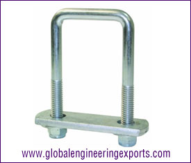 U-Bolts with Frame Straps, hex bolts, washers  manufacturers exporters in india punjab ludhiana